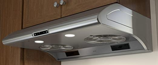 Zephyr AK2100BS 30u0026quot; Power Typhoon Series Under Cabinet Hood With 850  CFM In Stainless Steel