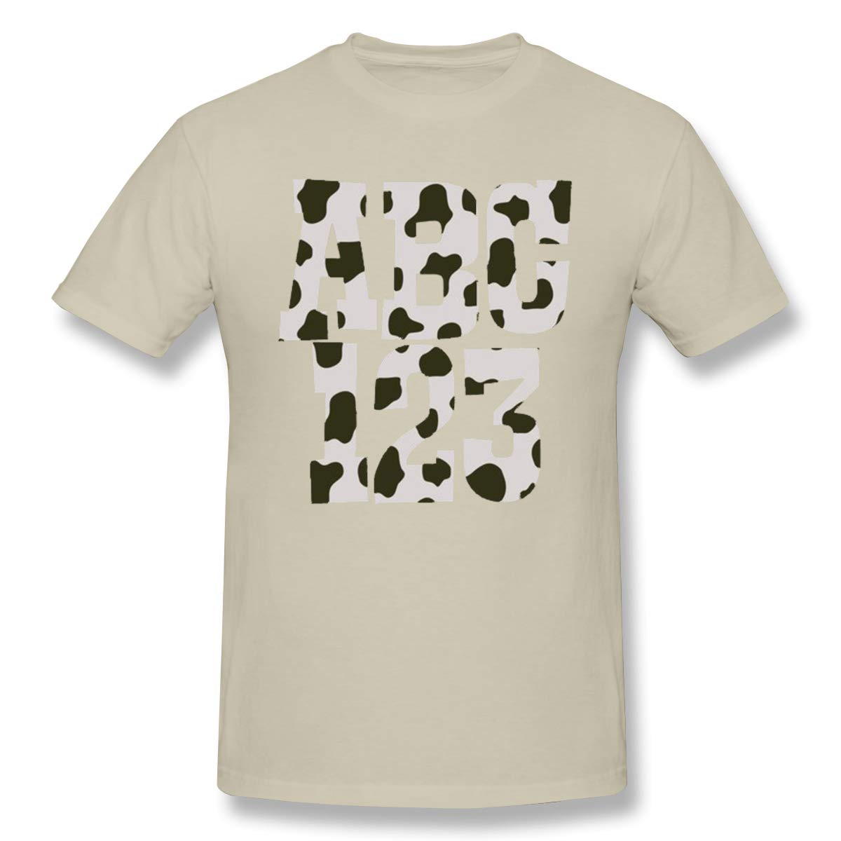 Grace S Letter Digital Printed Classic Tshirts Natural With Short Sleeve