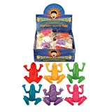 12 x Frogs Stretchy Stretchies Party Bag Fillers Favours Toys - Assorted Colours