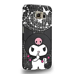 Case88 Premium Designs My Melody & Kuromi Collection 0651 Protective Snap-on Hard Back Case Cover for Samsung Galaxy S6