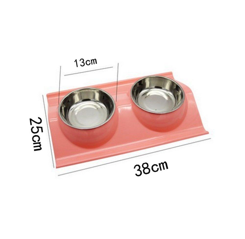 Wa 1pc Caramelo Color Tazón de Fuente Doble para el Gato y Perro de Animal Doméstico Cuencos Comedero para Mascotas: Amazon.es: Deportes y aire libre