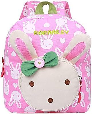 EGOGO Conejo Animales Niños Mochila Kinder mochilas/ Infantil Mochila para Niños Niñas Bebés E525-1 (Rosa)