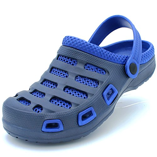(Sport Men's Two Tone Ventilated Navy/Blue Garden Clogs 8 D(M))