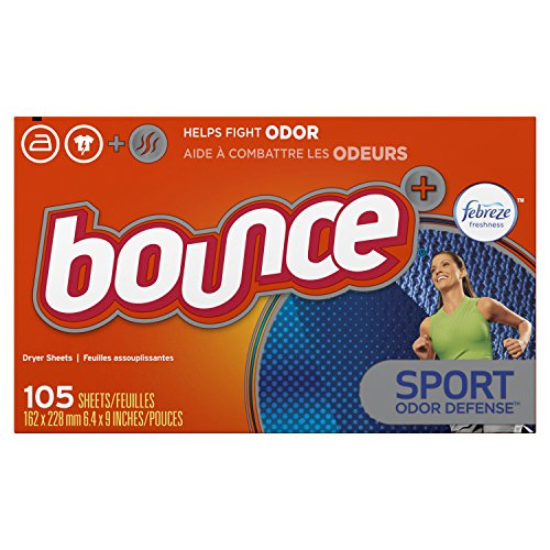 Bounce Fabric Softener Dryer Sheets For Men, Pure Sport, 105 Count