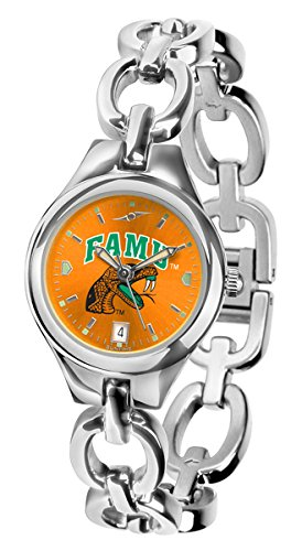 (NCAA Florida A&M Rattlers Ladies Stainless Steel Eclipse AnoChrome Watch )