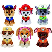 Ty Paw Patrol Beanie Babies - Set of 6! Marshall, Chase, Skye, Rocky, Rubble and Zuma!