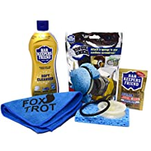 Bar Keepers Friend Sponge Spinner Drill Cleaning Kit | Tubs, Sinks, Cookware & More| Includes Sponge Spinner Drill Attachment Kit|13 Oz Bar Keepers Friend Liquid Cleanser | Foxtrot MicroFiber Towel