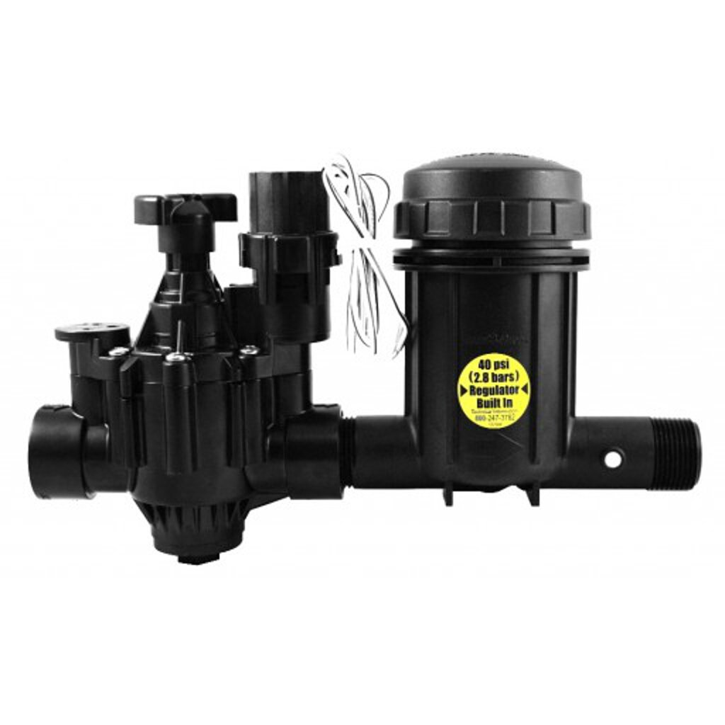 Rainbird Light Commercial Control Zone Kit with PGA Valve and A Pressure Regulating Basket Filter, 1''/40 psi