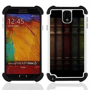 BullDog Case - FOR/Samsung Galaxy Note3 N9000 N9008V N9009 / - / QUOTE BOOK PHILOSOPHY DECORATION SHELF /- H??brido Heavy Duty caja del tel??fono protector din??mico - silicona suave