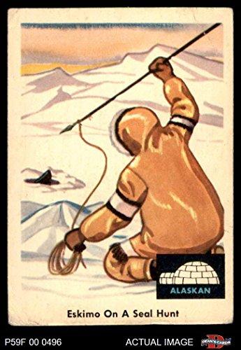 (1959 Fleer Indian # 70 Eskimo on seal hunt (Card) Dean's Cards 2 - GOOD)