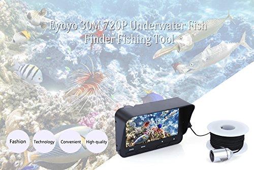 (4.3'' LCD 720P HD IR Underwater Fishing Camera Fish Finder TFT Monitor 30M)
