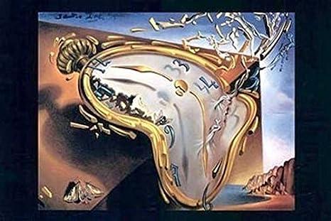 Salvador Dali – Reloj de fusión Al momento de su primera explosi Artistica di Stampa (
