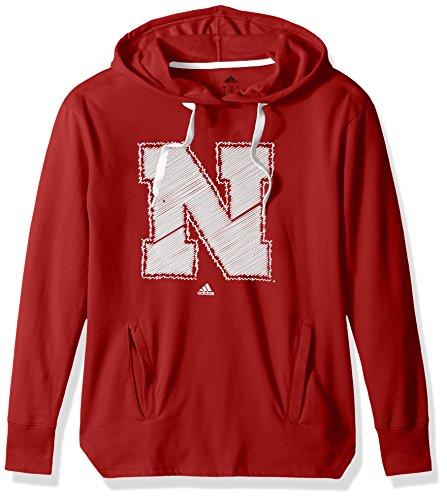 NCAA Nebraska Huskers Adult Women Printed Stitch Logo Fleece Hood, Large, Power Red (Nebraska Huskers Golf)