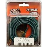 Coleman Cable 56421933 14 Gauge Automotive Copper Wire, Green, 17'