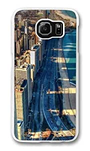 Chicago Beach Polycarbonate Hard Case Cover for Samsung S6/Samsung Galaxy S6 Transparent