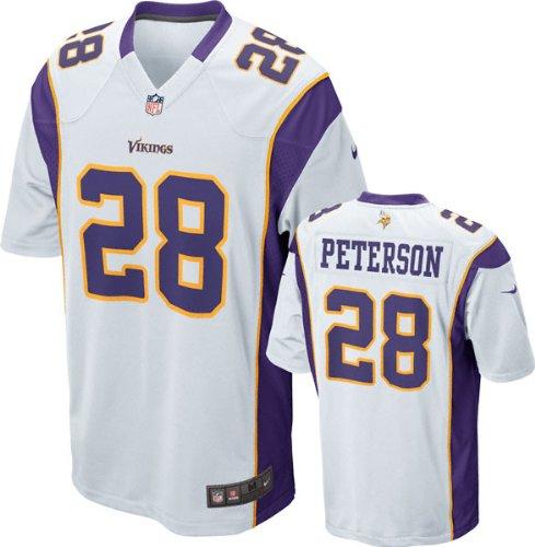 Nike Minnesota Vikings Peterson #28 Youth Game Day Jersey (XL, White)
