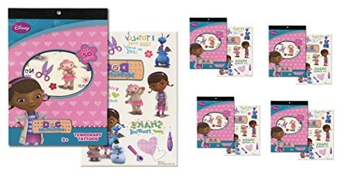 Doc Mcstuffins Tattoo Book x 4 (each book has 4 sheets over 50 tattoos) -