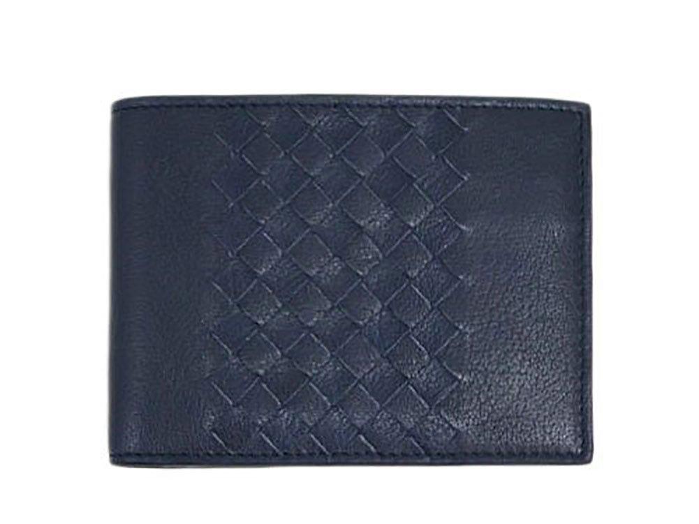 (ボッテガヴェネタ) BOTTEGA VENETA 財布 メンズ 二つ折り 小銭入れ付き B014ONKB66 ネイビー ネイビー