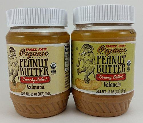 (Trader Joe's Variety Pack Crunchy and Creamy Salted Organic Peanut Butter 16 Oz.)