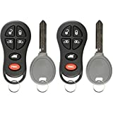 KeylessOption Keyless Entry Remote Fob Uncut Ignition Car Key Replacement for GQ43VT18T, 04686797 (Pack of 2)