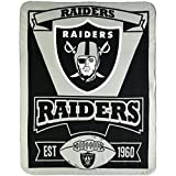 NFL Oakland Raiders Marque Printed Fleece Throw, 50-inch by 60-inch