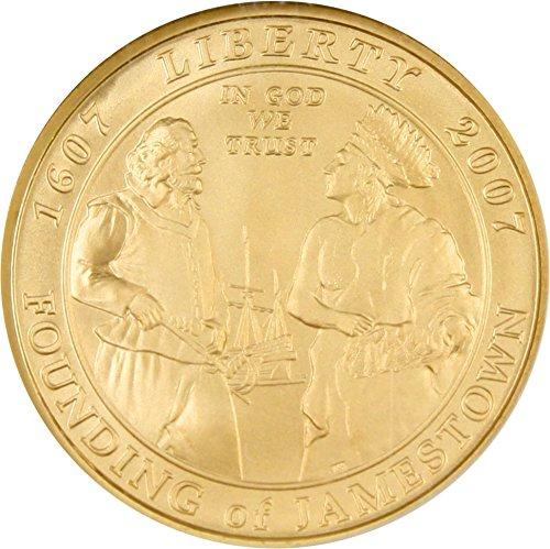 2007 W $5 Modern Commems - Gold Jamestown Five Dollar MS70 NGC ()