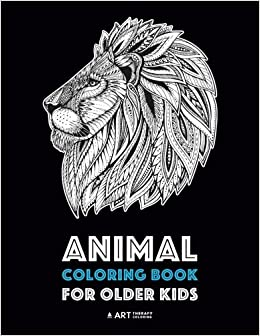 animal coloring book for older kids complex animal designs for boys
