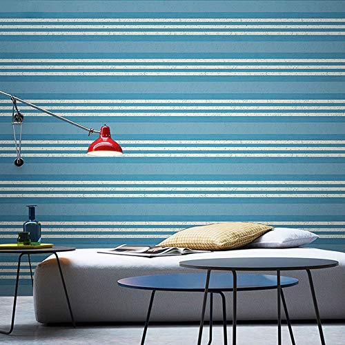 Mediterranean red blue striped wallpaper modern minimalist living room bedroom background wall paper (Color : Color 1) ()
