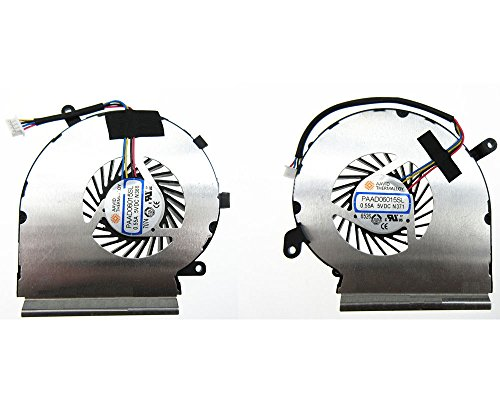 HK-Part Replacement Fan for MSI GE62VR GP62VR GP62MVR CPU Fan and Gpu Cooling Fan (2 Fans) PAAD06015SL N366 N371