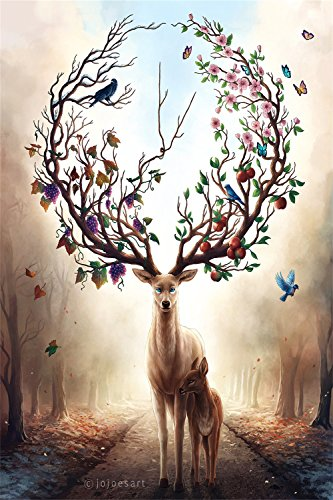 Jigsaw Puzzles Wooden For Adults 1000 Piece Deer Art