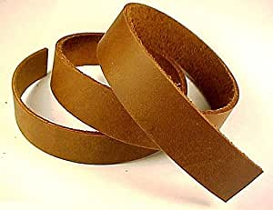 "3/4"" x 84"" BROWN OIL TANNED Leather Strip 5-6oz LeatherRush"