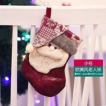VHVCX Bolsa De Regalo De Calcetines De Navidad Calcetines De Navidad Viejos Y Grandes Decoración Niños