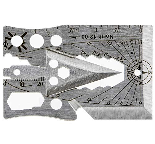 Credit Card Multitool - Multi Purpose, Multifunctional, Pocket Size, Wallet Kit - Best as Survival Tool, Knife and Axe, Can and Bottle Opener, Utility Cards, Ninja Tools, Gift Set and Gadget for Men