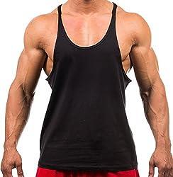 MANSTORE Men's Blsnk Stringer Y Back Cotton Sport Tank Top P729 YELLOW XXL