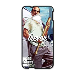 HTC One M7 Cell Phone Case Black GTA 5 Trevor With A Bat S4L6PA