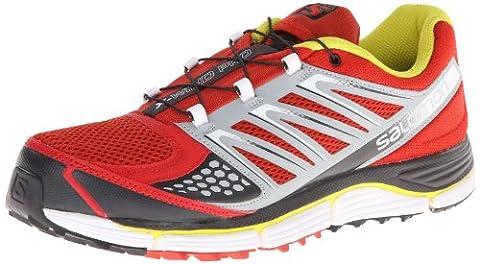 Salomon Men's X-Wind Pro Running Shoe,Quick/Light Onix/Mimosa Yellow,10 M US (Salomon Shoes Men X Wind)