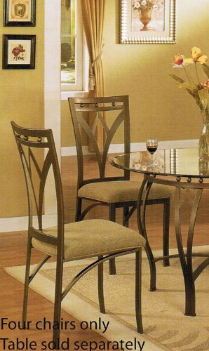 Set of 4 Dining Chairs - Traditional Bronze Finish
