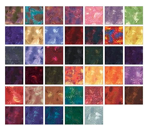 Fossil Fern DARKS Pinwheel 40 2.5-inch Strips Jelly Roll by Benartex by Benartex (Image #2)