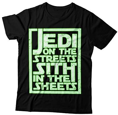 Shirt T Brille 6tn Hommes Sur Effet Sith Le Rues Noir Feuilles Jedi Dans O7ZwOA