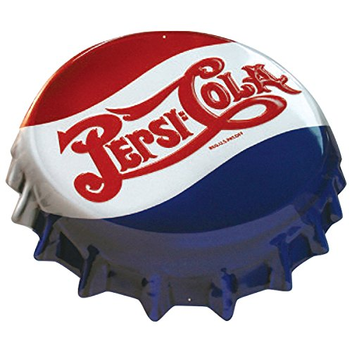 (Ande Rooney Pepsi Cap Tin Sign)