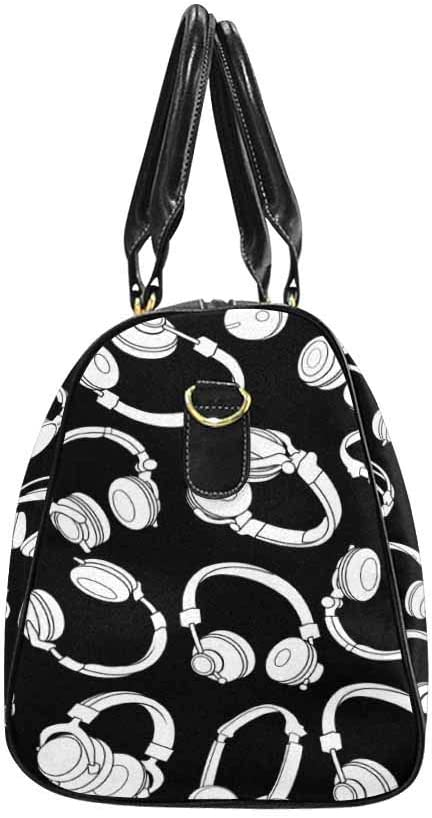 InterestPrint Unisex Duffel Bag Carry-on Bag Overnight Bag Weekender Bag Headphones