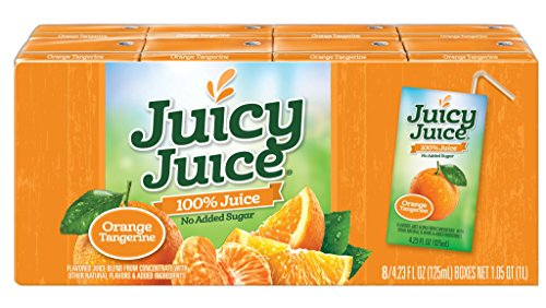 Juicy Juice Orange Tangerine, 4.23 Ounce Boxes, 8 Count (Pack of 5) ()