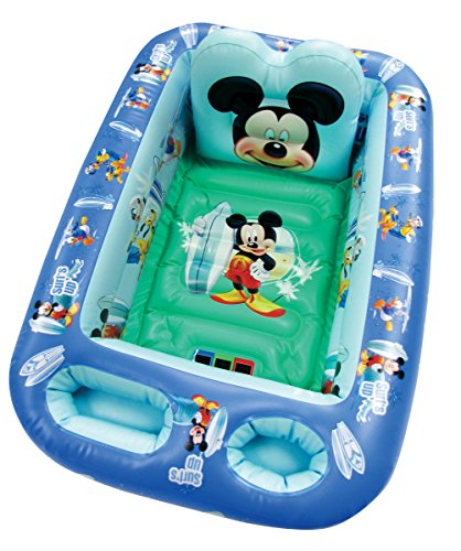 Disney Mickey Mouse Inflatable Safety Bathtub, Blue]()