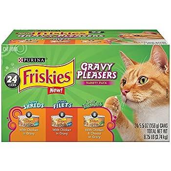 Purina Friskies Gravy Pleasers Variety Pack Cat Food - (24) 8.25 Lb. Box