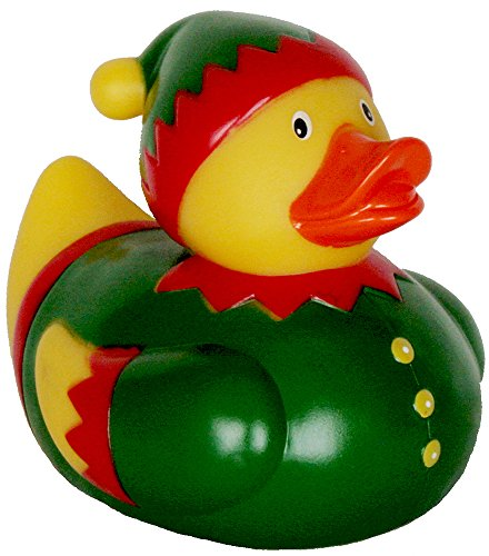 Christmas Elf Rubber Duck, Waddlers Rubber Ducks Family, brand new designed and made for Christmas green elf themed toy duck, large size 5
