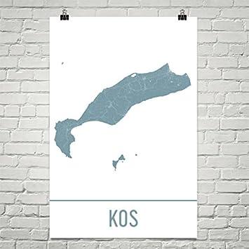 Amazon modern map art kos map kos art kos print kos greece modern map art kos map kos art kos print kos greece poster gumiabroncs Gallery