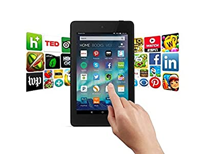 "Amazon Fire HD 6 Tablet (Includes Special Offers), 6"" HD Touchscreen IPS Display, Quad-Core 1.5GHz Processor, 802.11n, FireOS 5, Black - 8GB Internal Storage (Certified Refurbished) from Kindle"