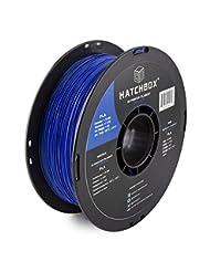 HATCHBOX 3D PLA-1KG1.75-BLU PLA 3D Printer Filament, Dimensio...