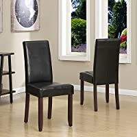Awesome WYNDENHALL Normandy Parson Chairs (Set of 2) in Black
