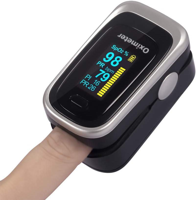 CQ Oxímetro de Dedo Portátil Completamente automatico Monitor de Frecuencia de Pulso